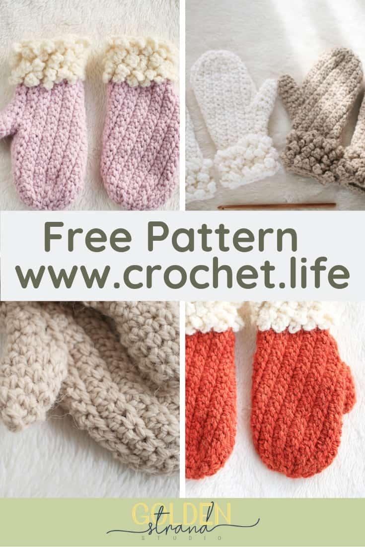 Child Winter Spun Mitten Free Easy Pattern