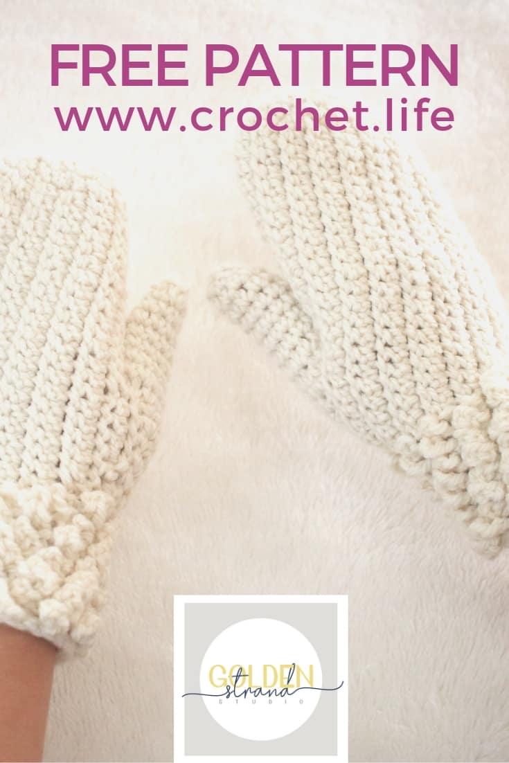 Adult Mitten Pattern Free Easy Winter Spun