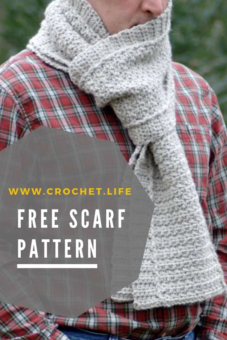 Easy Winter Path Scarf Pattern