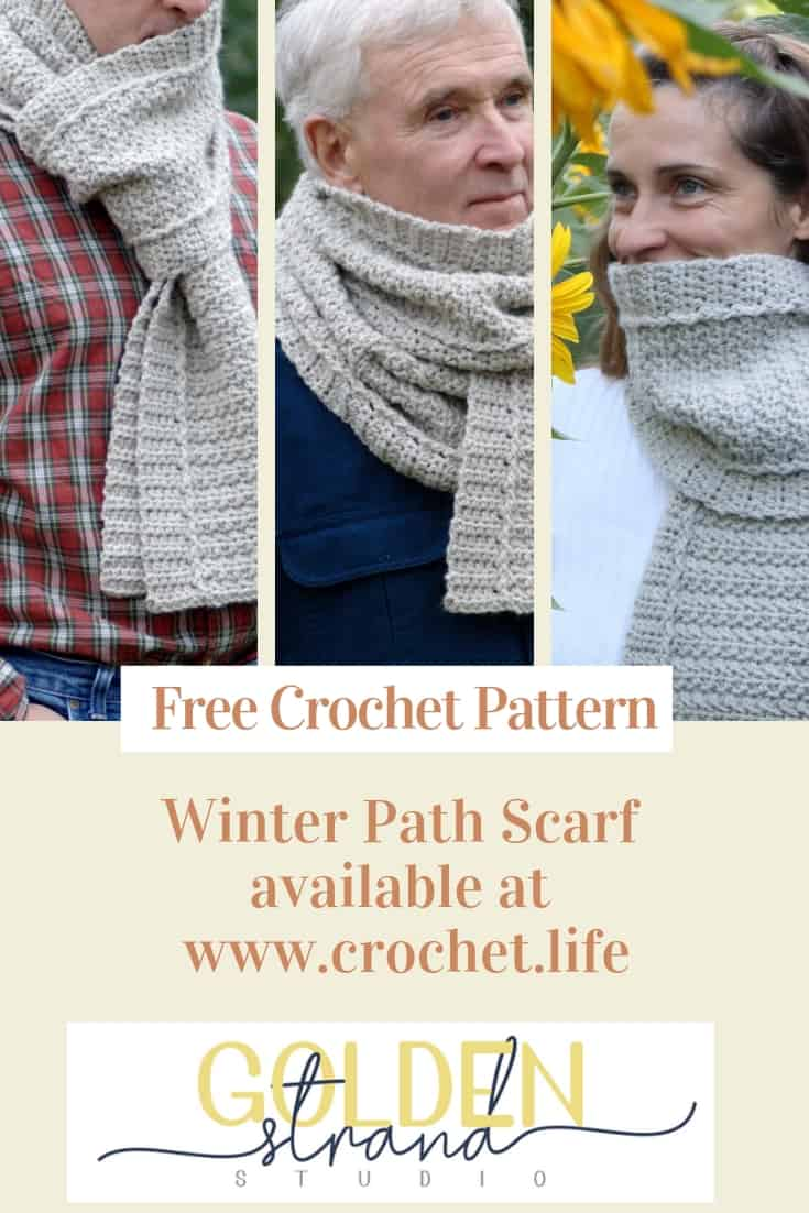 The Free Winter Path Scarf is Easy to Crochet