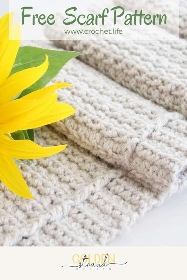 Crochet Winter Path Scarf Free Pattern