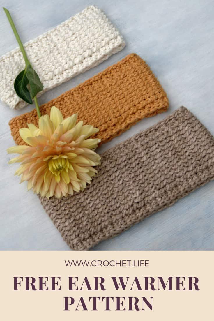 Free Ear Warmer Crochet Pattern With Tutorial Crochet Life