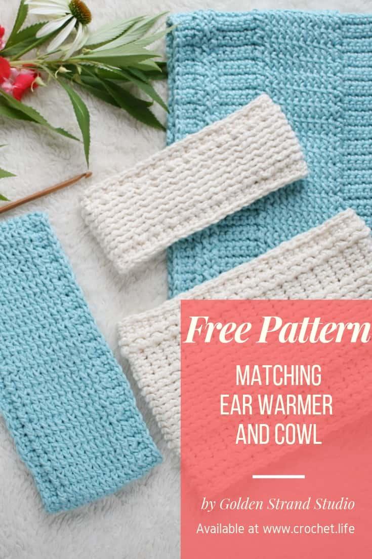 Free Woodland Trekke Ear Warmer Cowl Crochet Pattern