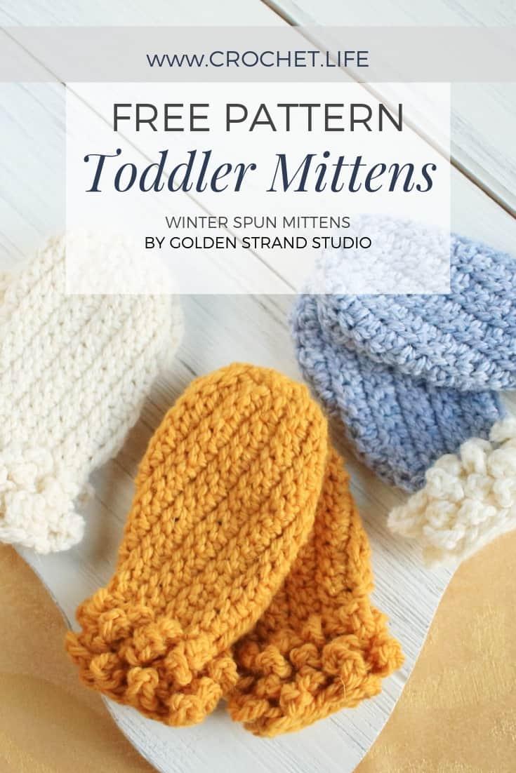 Free Toddler Mittens Winter Spun Pattern