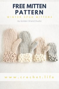 Free Toddler Mittens Matching Child and Adult