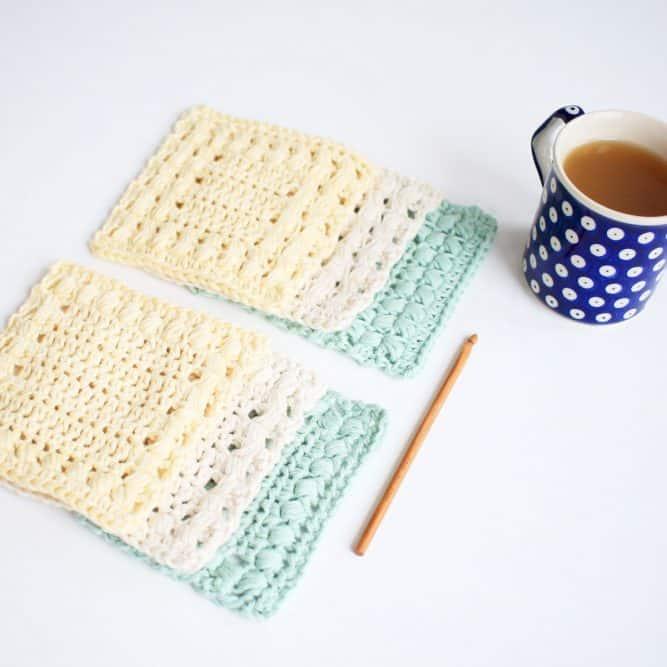 Sunny Hollow Crochet Coasters 2 Designs