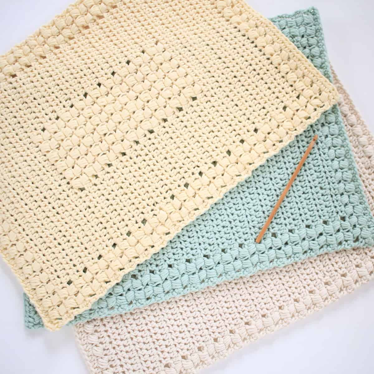 Free Sunny Hollow Crochet Placements 3 Different Designs