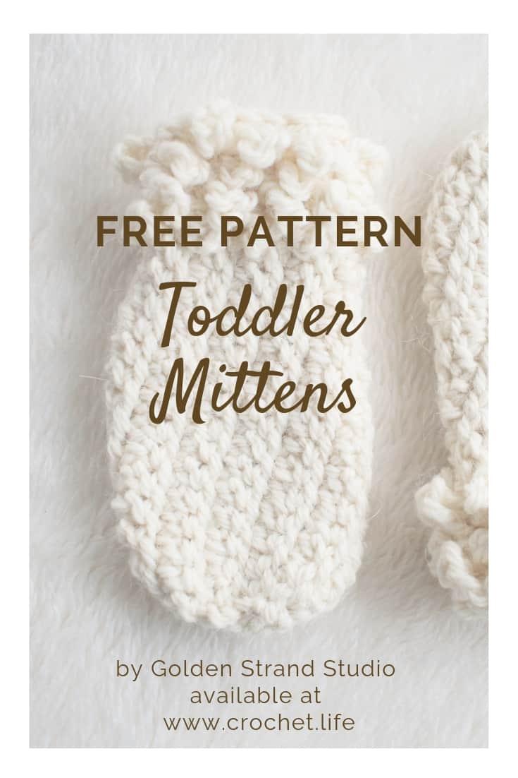 Free Pattern Winter Spun Toddler Mittens