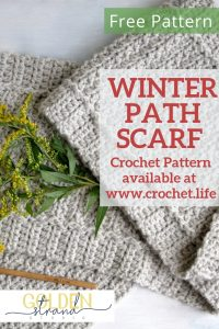 Crochet the Winter Path Scarf Pattern for Free