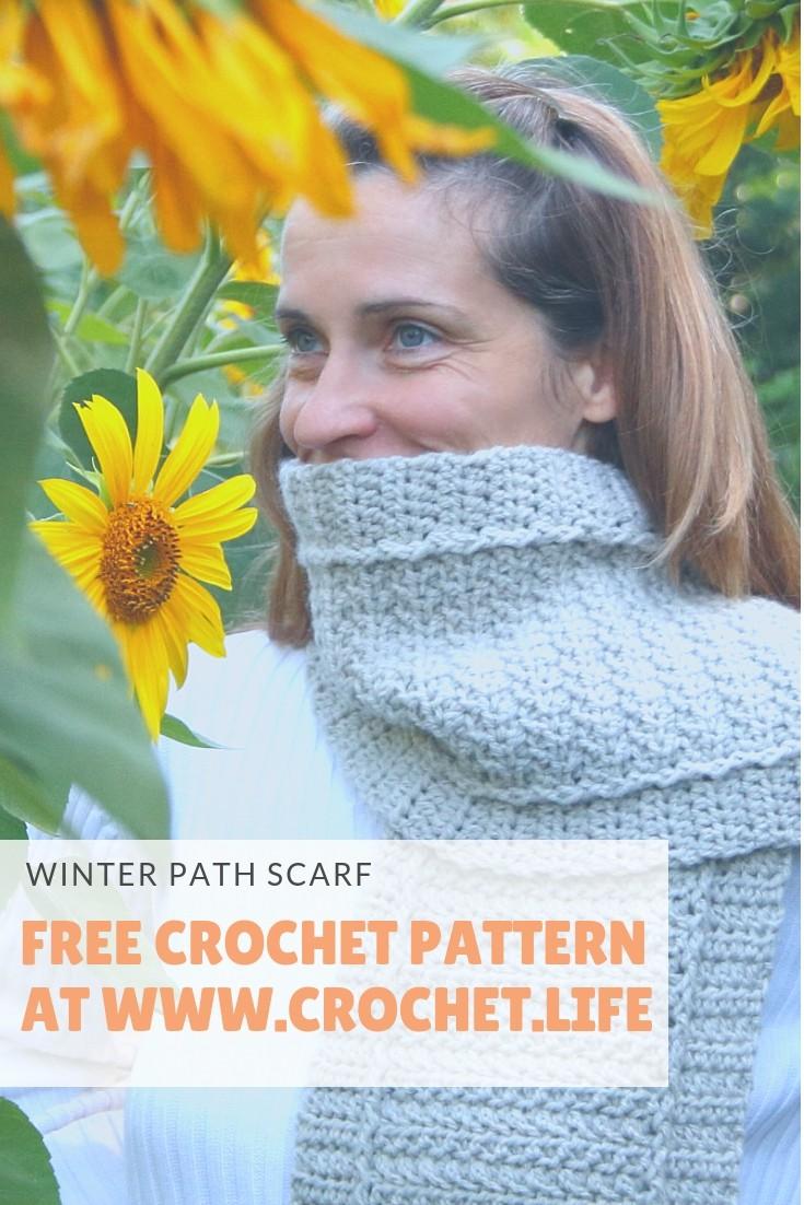 Easy to Crochet Winter Path Scarf Pattern