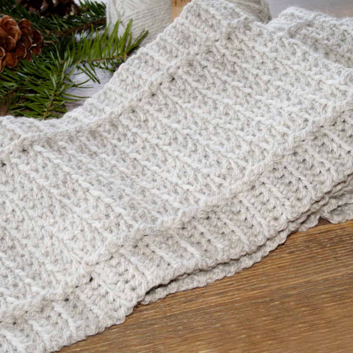 Easy Crochet Scarf - Free Winter Path Pattern - Crochet . Life
