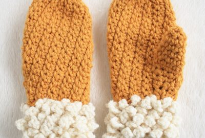 Child Two Toned Mitten Pattern Winter Spun