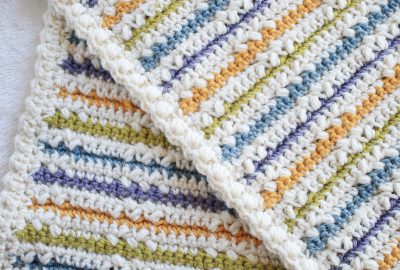Wundran Baby Blanket Color Strips and Edging