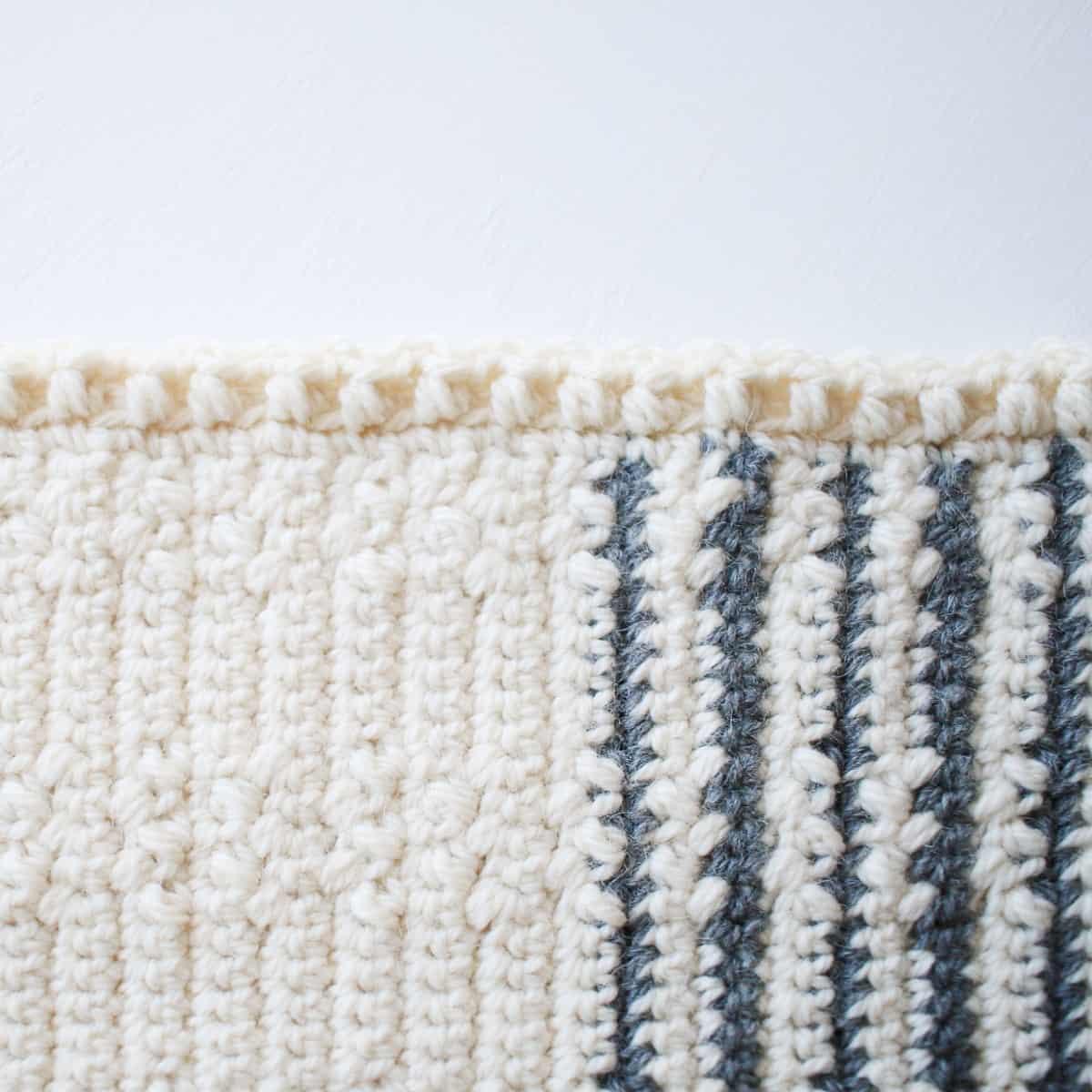 Wundran Baby Blanket Edging Closeup