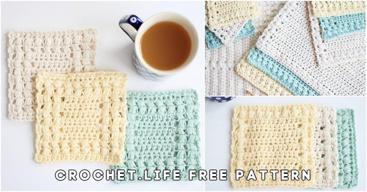 Crochet coaster set finished designs.