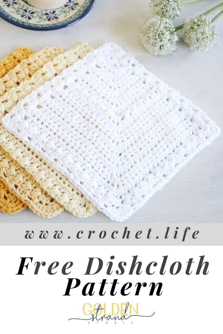 Free Dishcloth Crochet Pattern Flutterby