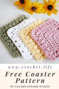 Crochet Easy Coaster Pattern Flutterby