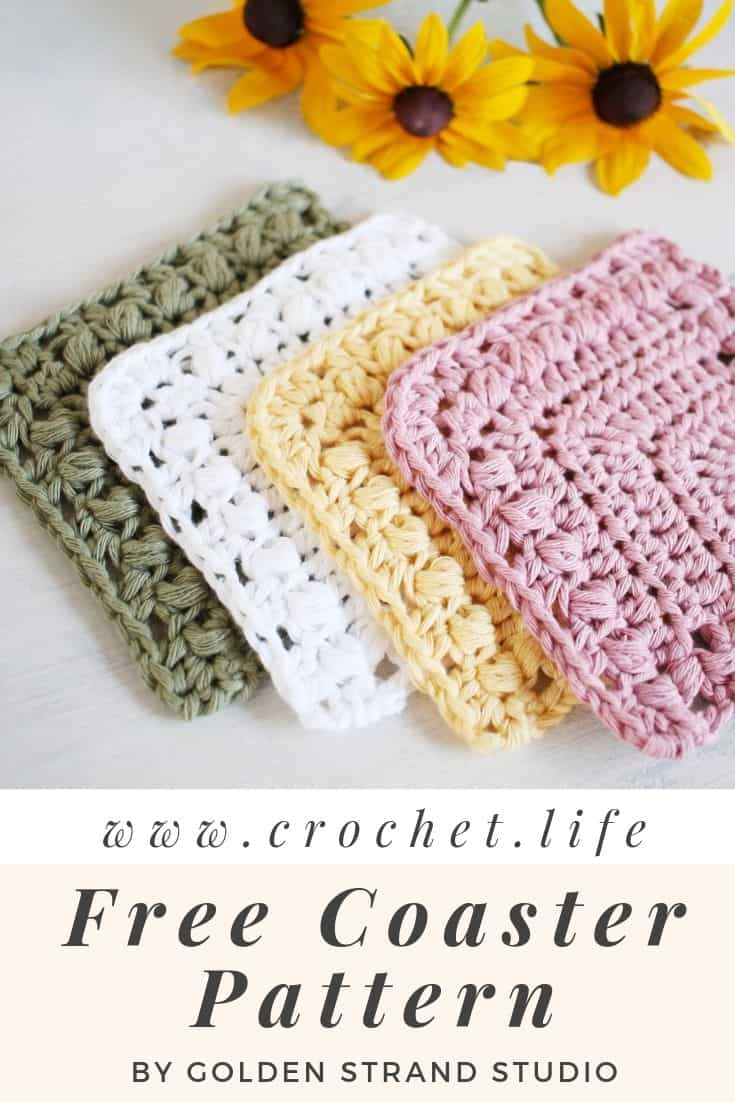 Crochet Easy Coaster Pattern Flutterby