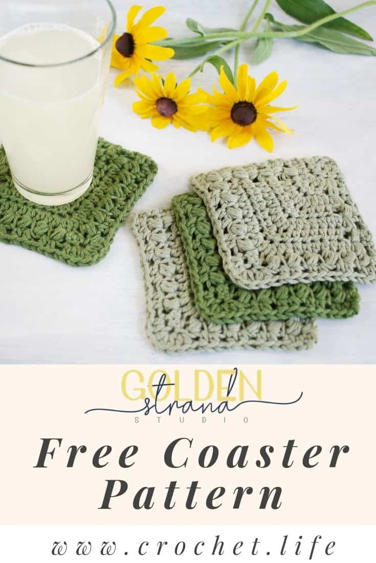 Crochet Free Coaster Flutterby Pattern