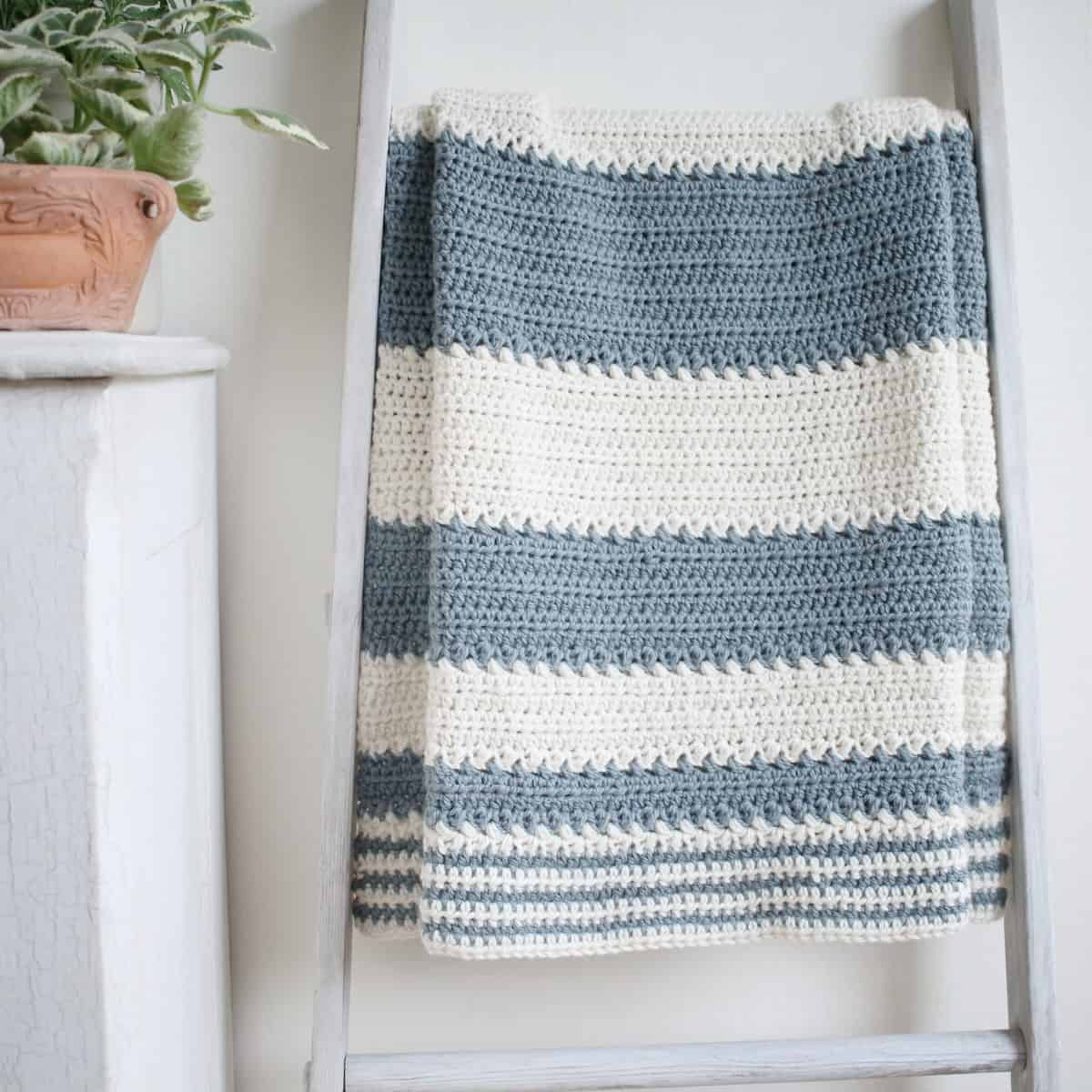 Simple And Easy Striped Baby Blanket Crochet Pattern Crochet Life