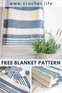 easy striped baby blanket pattern