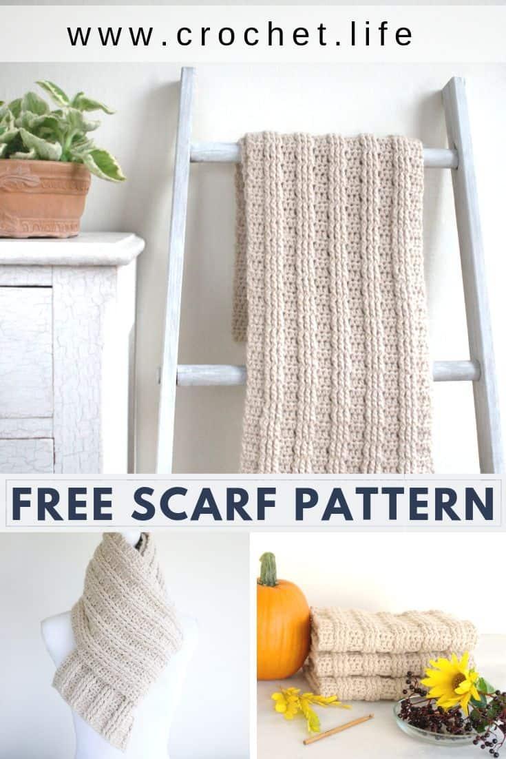 Long Crochet Scarf Easy Pattern