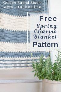 crochet blanket easy striped pattern