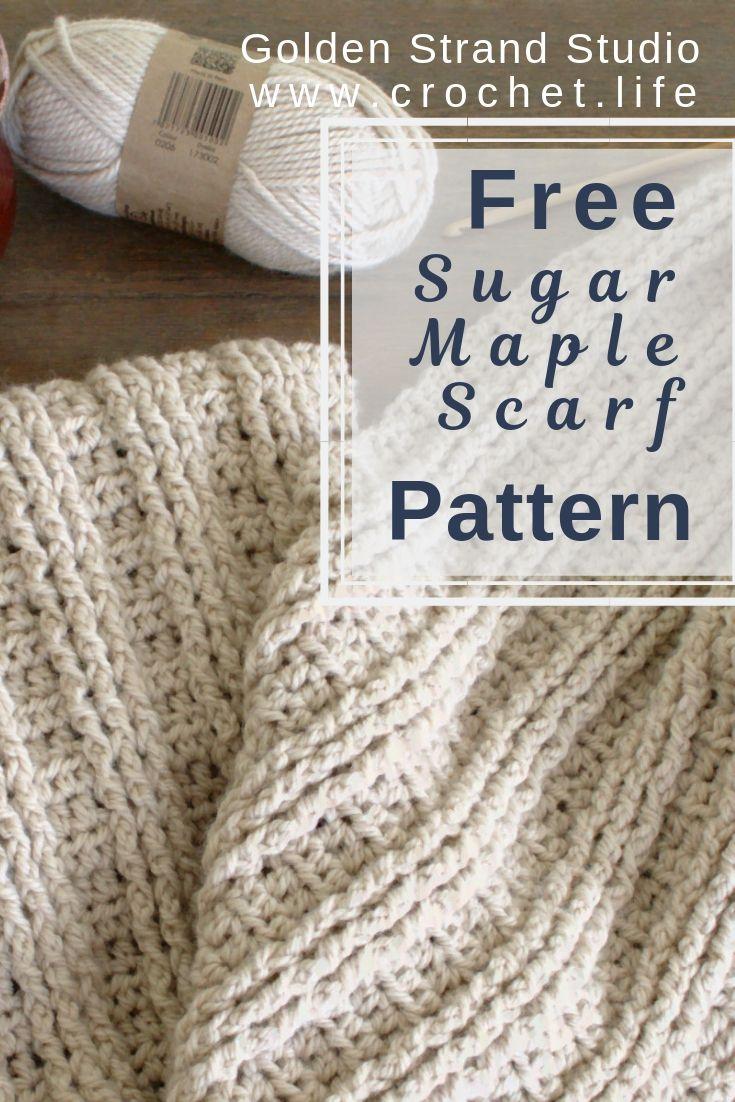 Ribbed Crochet Scarf Pattern Free