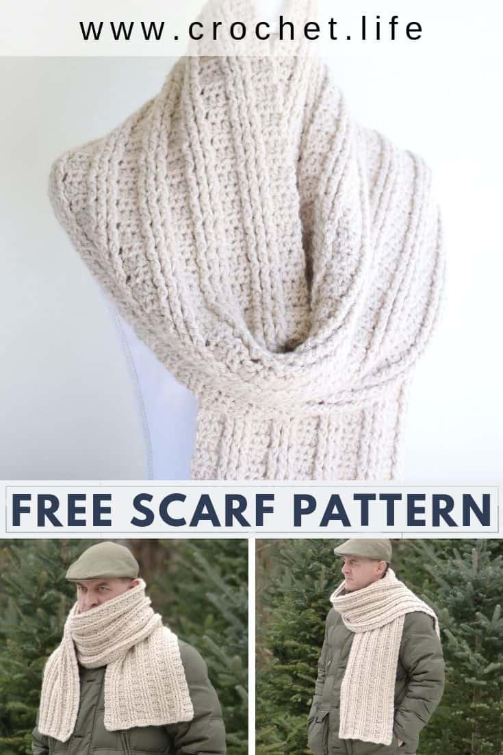 Crochet Scarf for Men Pattern Free