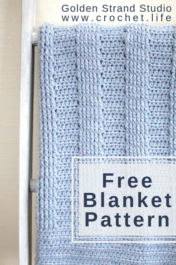 Simple crochet blanket for boys or girls.