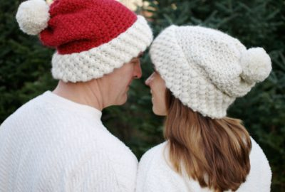 Cute and cozy Gathered Buds hat. Bulky yarn and two simple stitches.