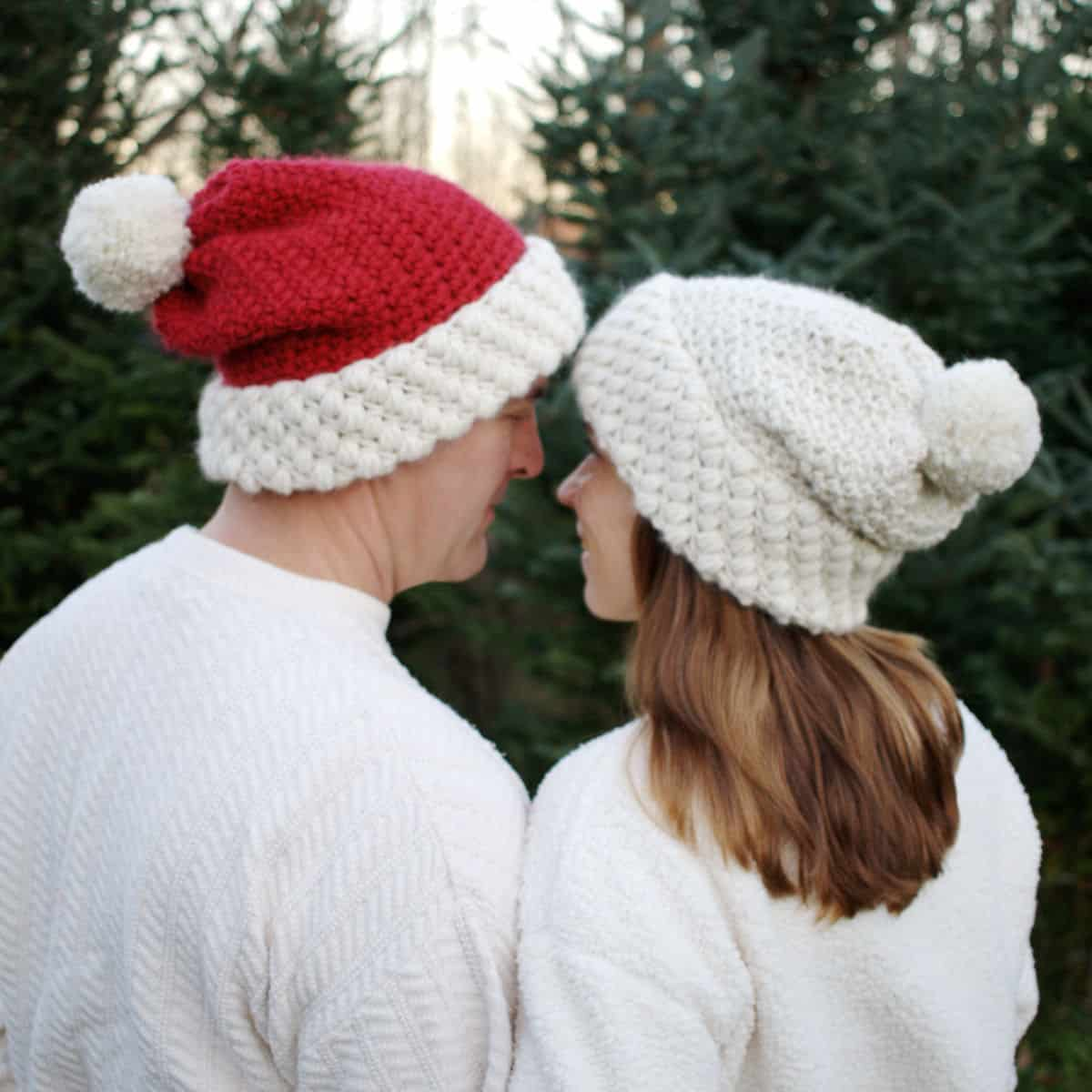 Cute and cozy Gathered Buds hat. Bulky yarn and two simple stitches. fd31f5aad75