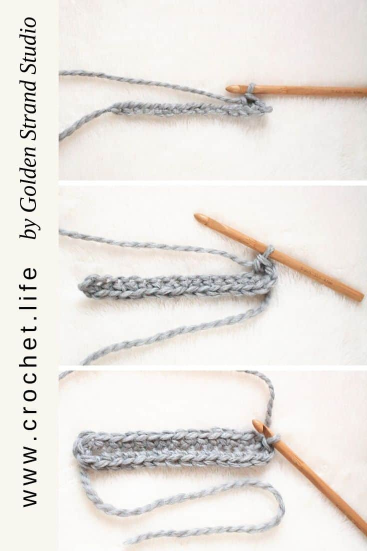 Start a crochet hat with an elongated crochet oval.