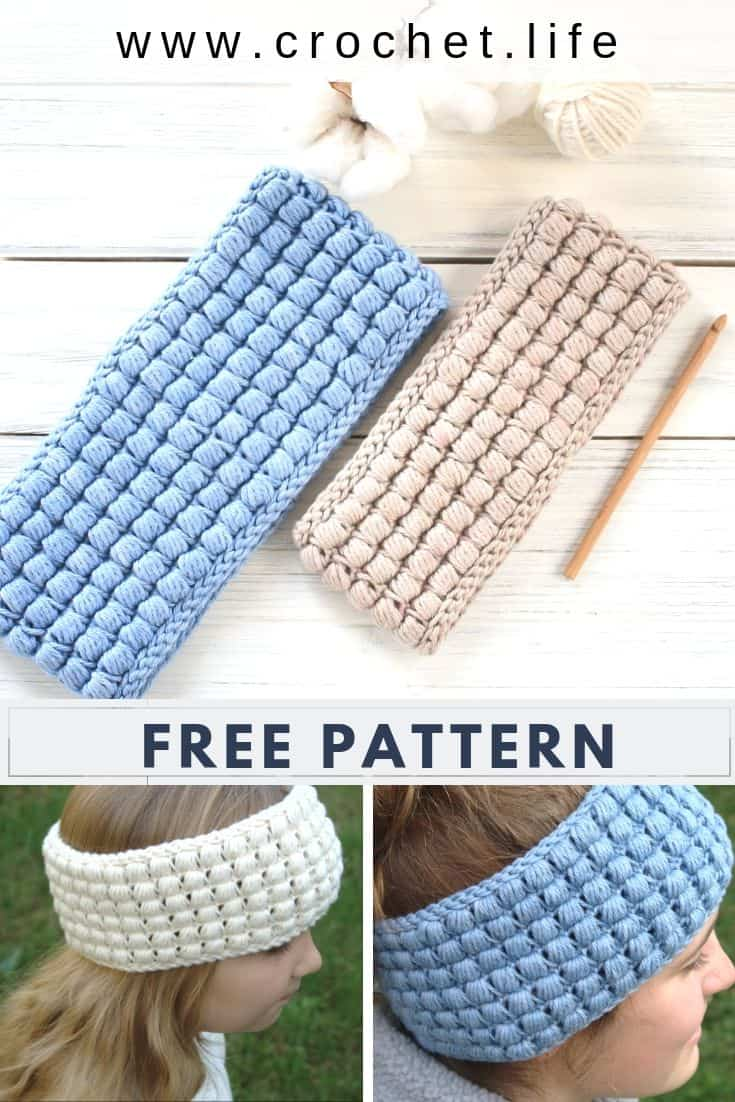 Free Crochet Ear Warmer Pattern. Sizes for the whole family.