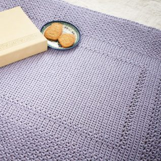 The Story Book baby blanket is easy to crochet. The pattern is free.