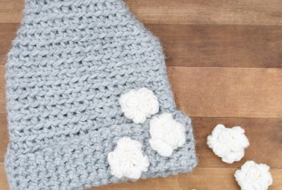 Bulky yarn This Way, That Way crochet hat pattern.