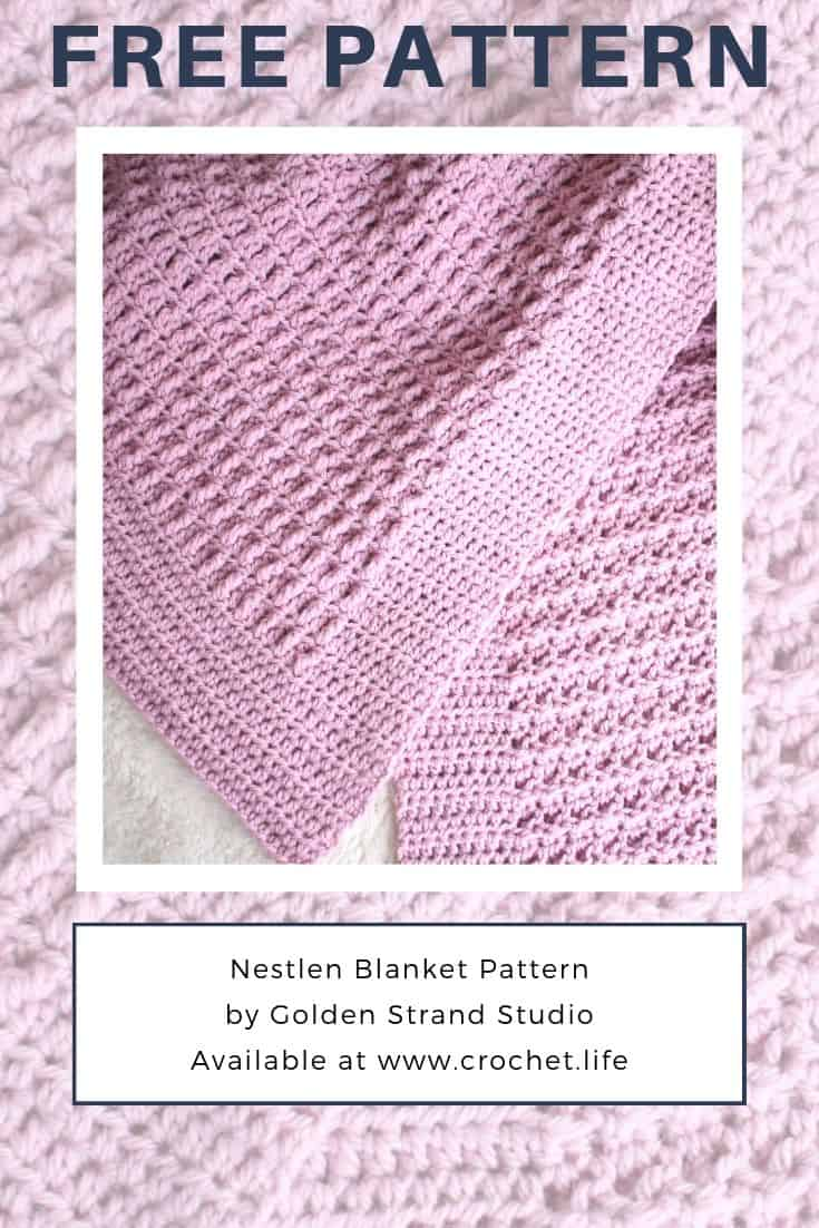 Lovely blanket makes the perfect baby shower gift. And the Nestlen pattern is free!