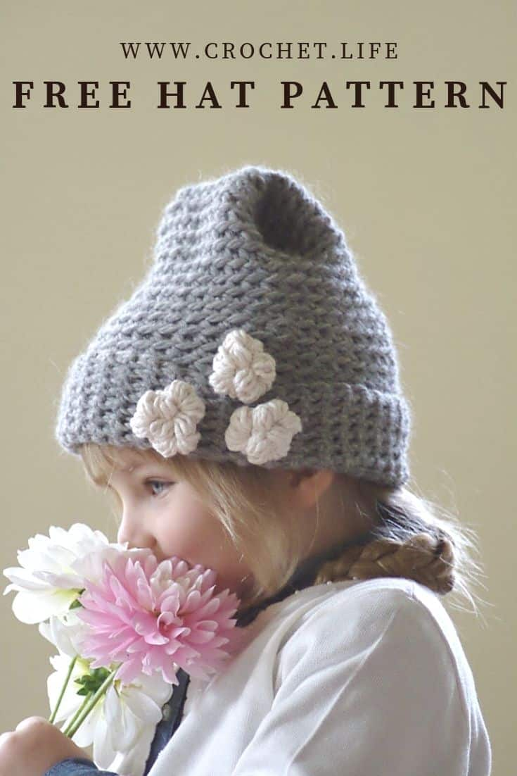 Free bulky hat pattern can be made in four different sizes for the whole family.