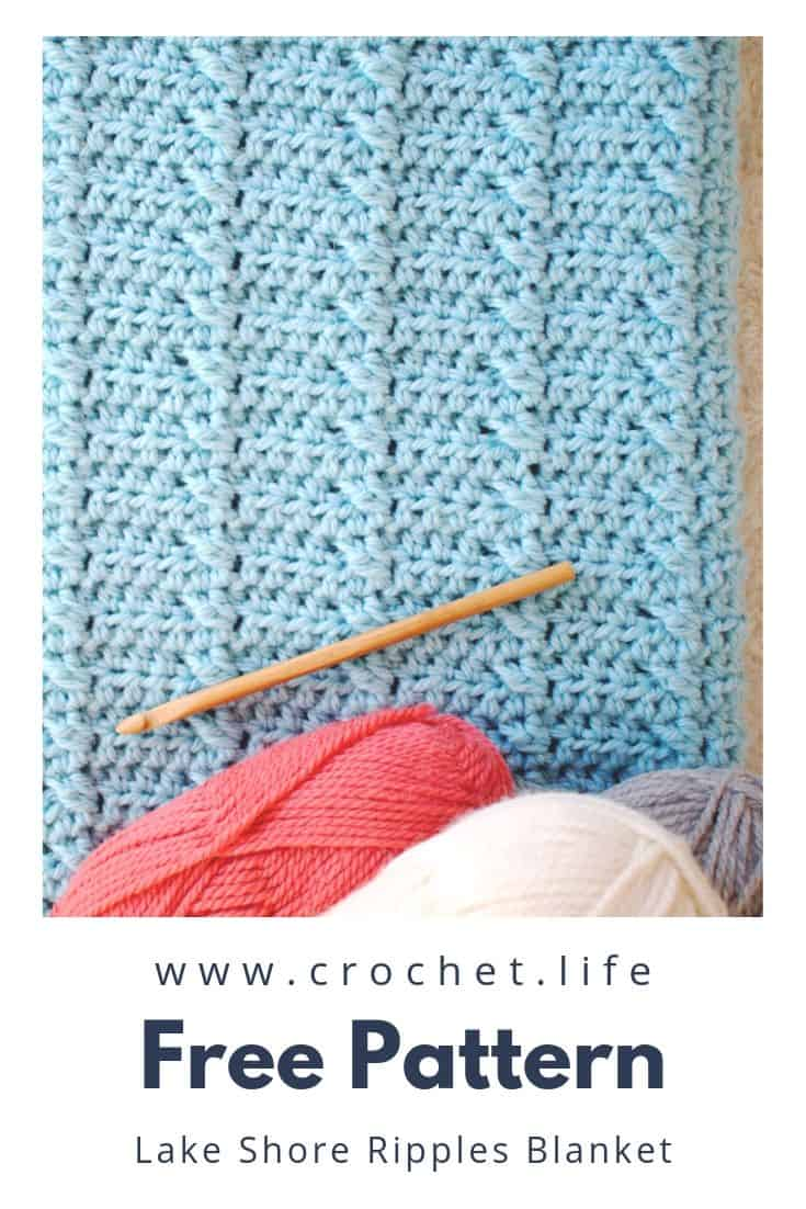 Classic Lake Shore Ripples Blanket Pattern Crochet Life