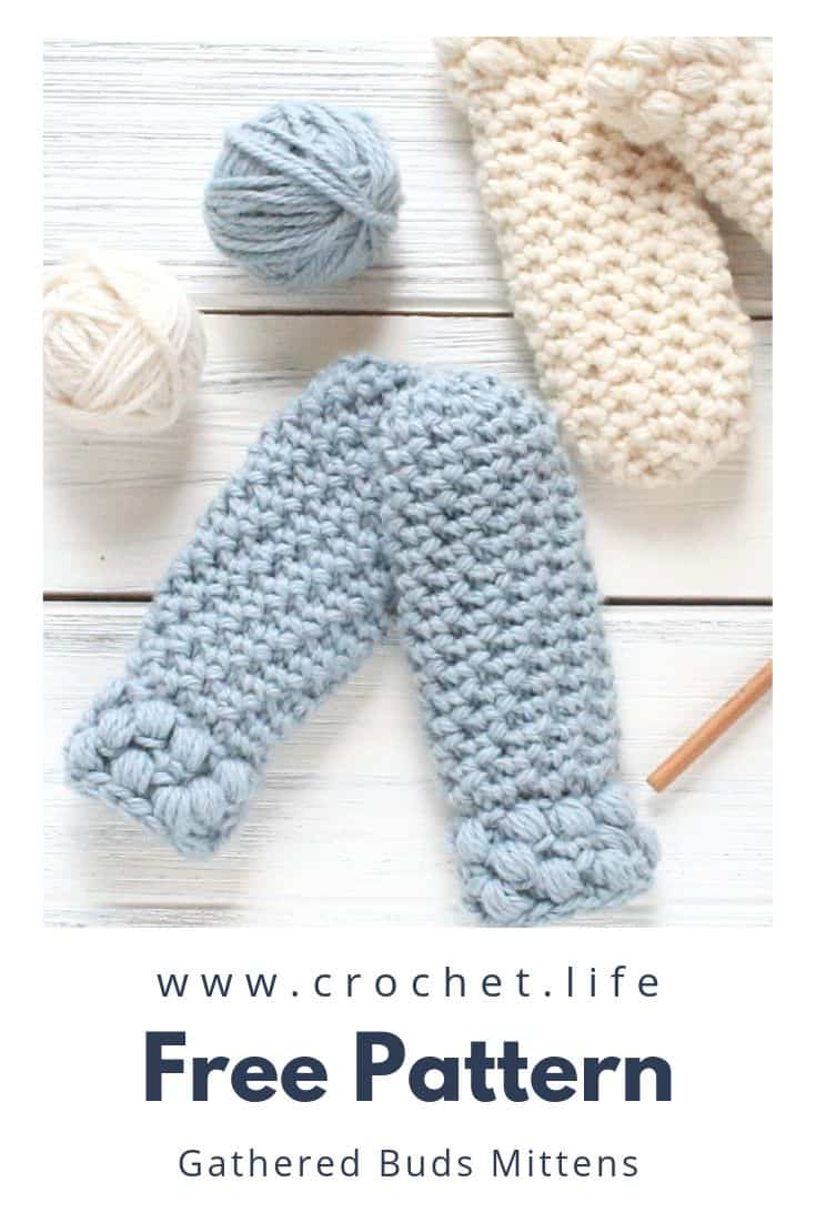 Free crochet toddler mitten pattern. Thumbless design that works up quick.