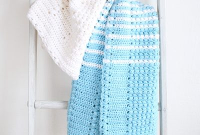 Classic Crochet Blanket with Puff Stitches. Enchanted Moments Pattern is Free.