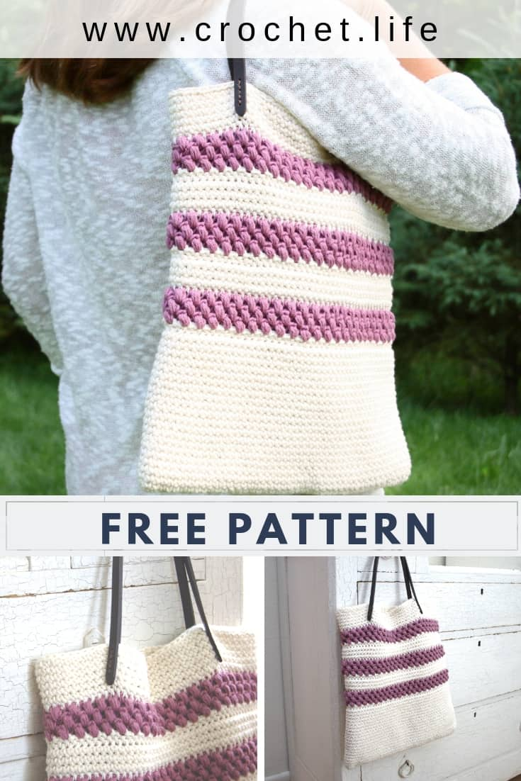 Easy to Crochet Tote Bag For Summer Fun