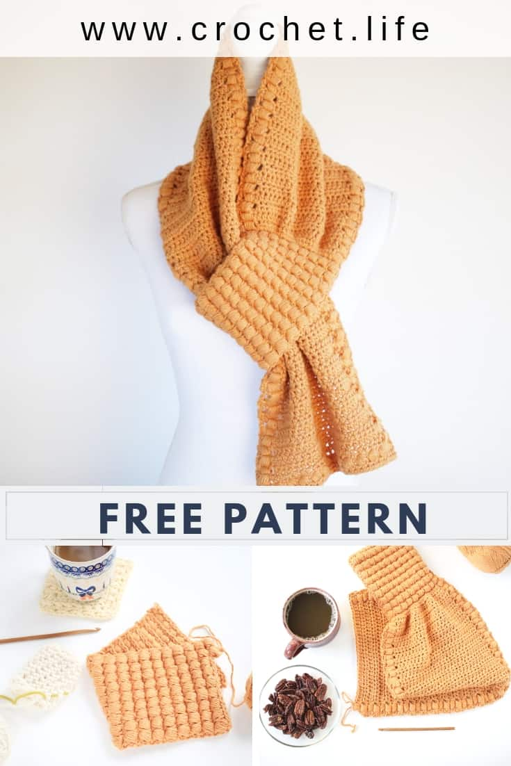Easy Keyhole Scarf Crochet Pattern. Directions Come In Two Sizes