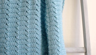 Lakeshore Ripples Blanket with Post Stitch Texture