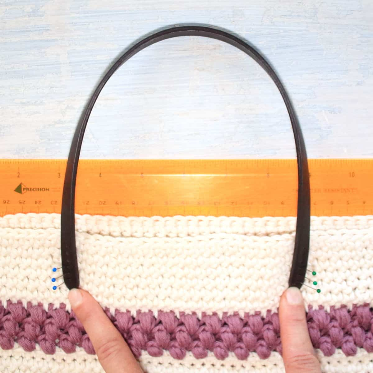 Pin The Leather Strap On Your Red Clover Summer Tote Bag.