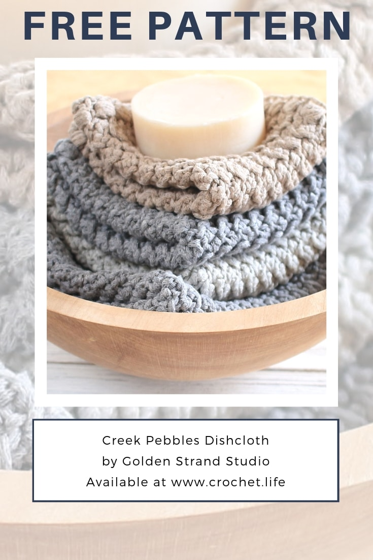 How To Crochet Cotton DIY Dishcloth Pattern
