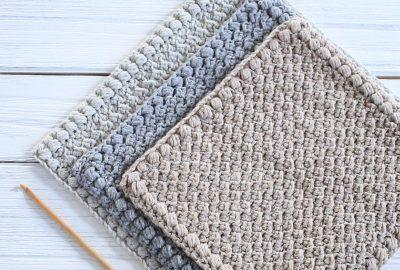Creek Pebbles Dishcloth Free Crochet Pattern