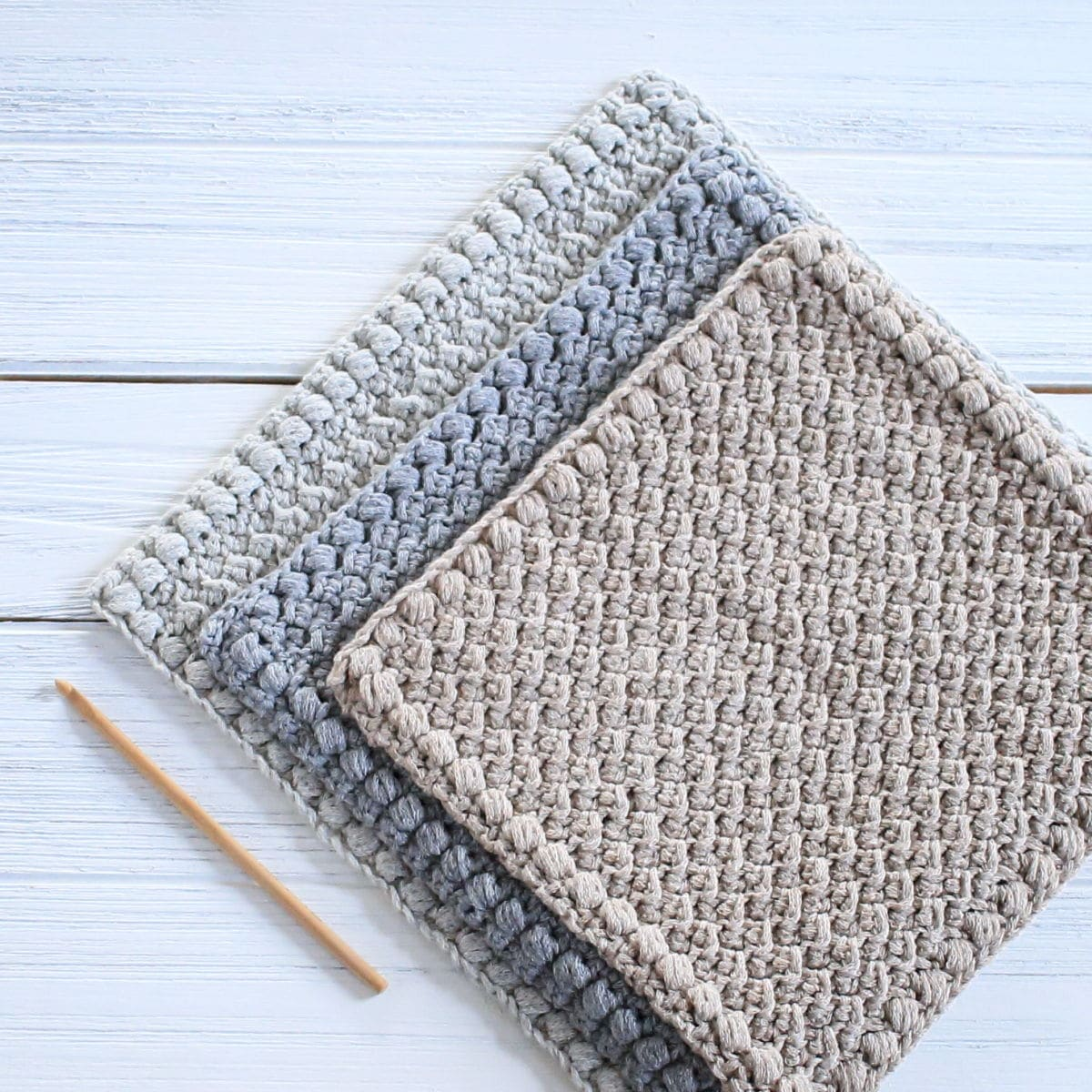 Creek Pebbles Dishcloth Free Crochet Pattern