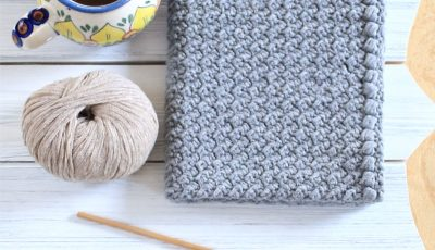 Creek Pebbles Crochet Hand Towel