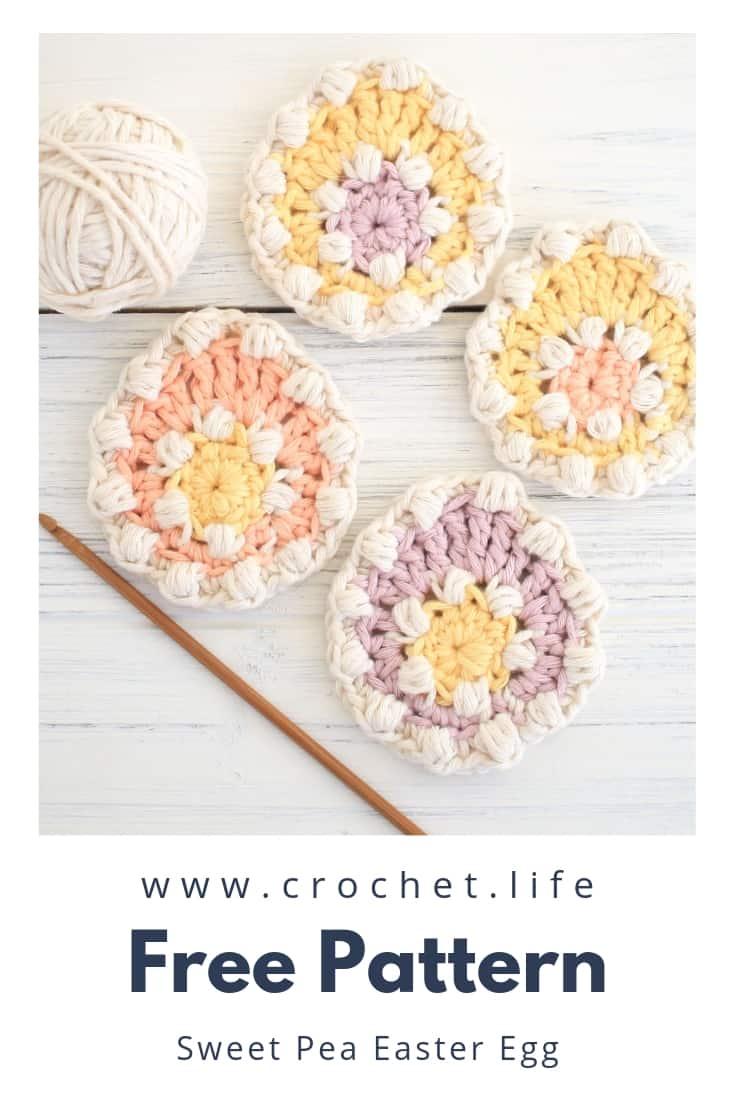 Free Crochet Sweet Pea Egg Pattern